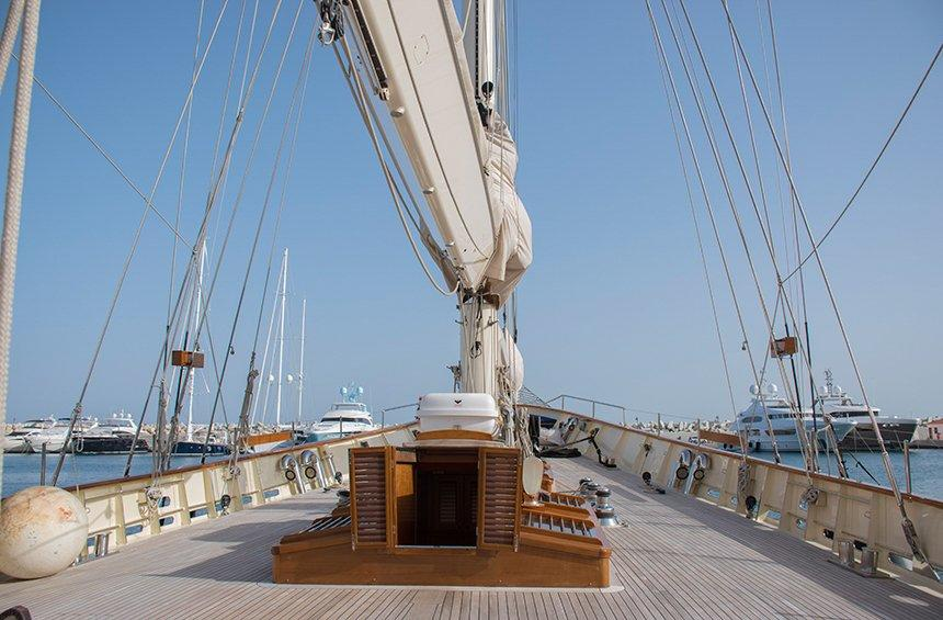 The impressive sailing boat in Limassol, which was reborn from its ashes!