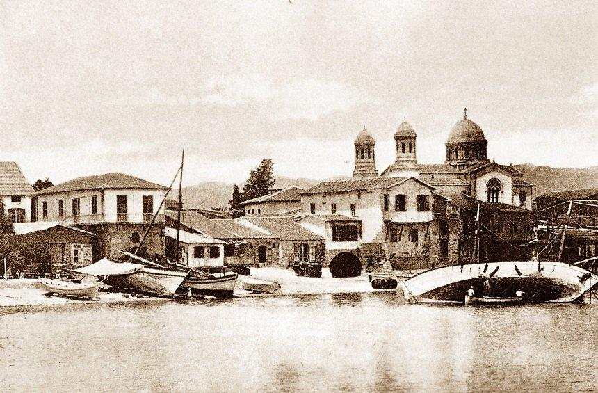 The image of the church from the sea, in the beginning of the 20th century.