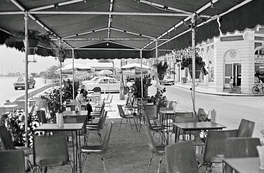 Black and white images of the unrecognizable Limassol seafront!