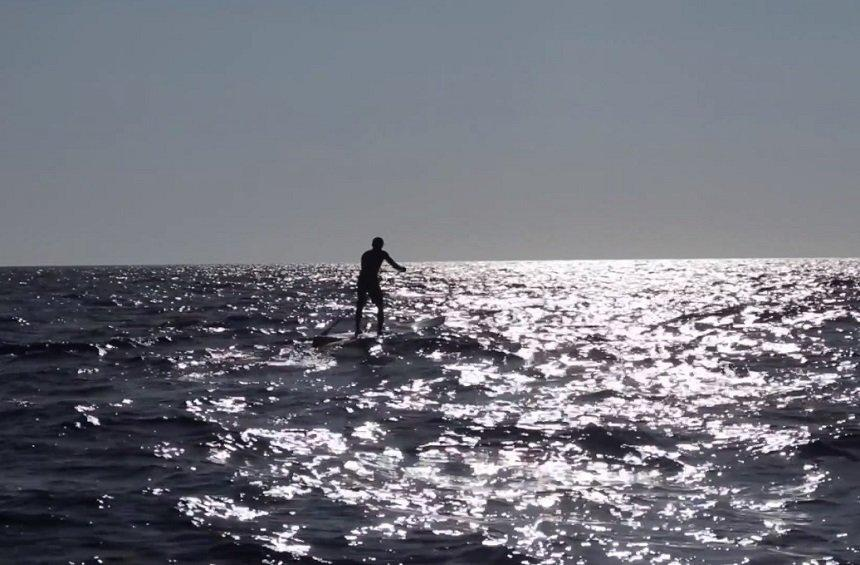 VIDEO: The 850-km sea journey of a man from Limassol on an SUP board!