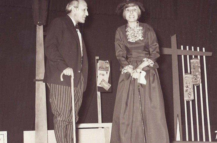 From the play 'All for our mother' by Demetris Papademetris. Staged by the Cyprus Theater Organization - 1966. With Dora Kakouratou.