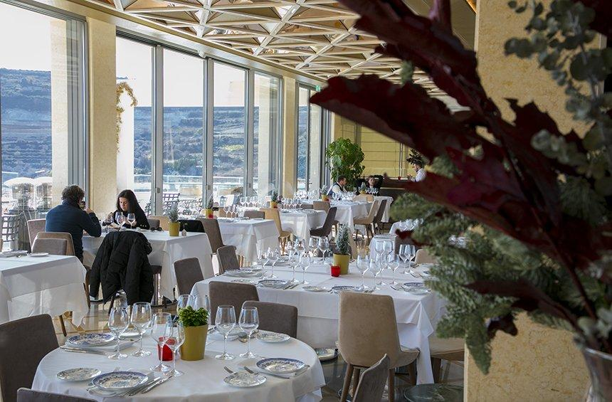Playia restaurant: A dining venue, in a winery with panoramic views!