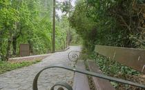 Cozy benches at Agios Nikolaos path.