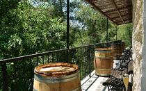 The balcony of the winery is perfect for tasting wine, along with the scents of the river bank.