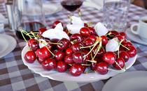 Ice cold cherries are an excellent dessert.