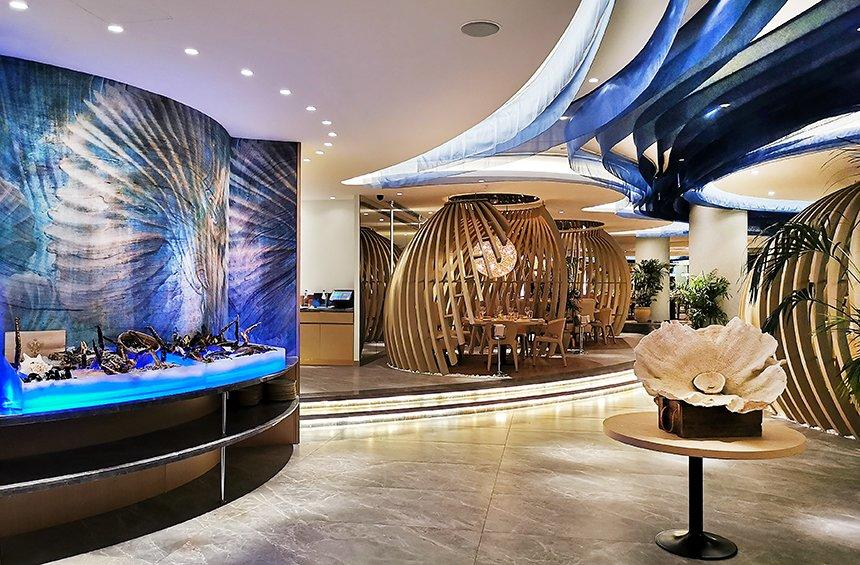 Thalassa Restaurant: The impressive restaurant at the Amathus Hotel for fish and seafood!